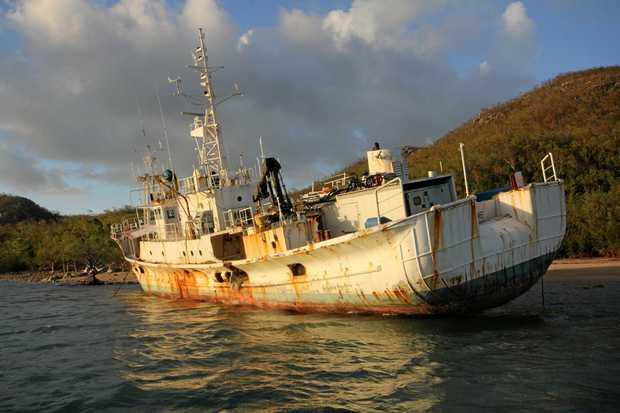 The Tateyama Maru Lies Beached On Gloucester Island In The Northern Whitsundays