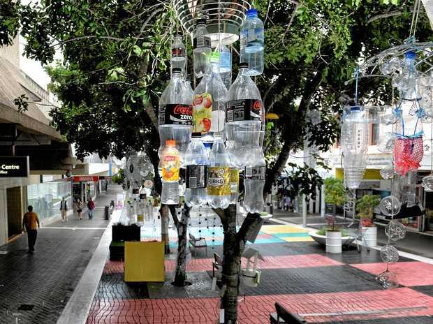 Glen Smith's In-Situ installation 'Bottletree'.