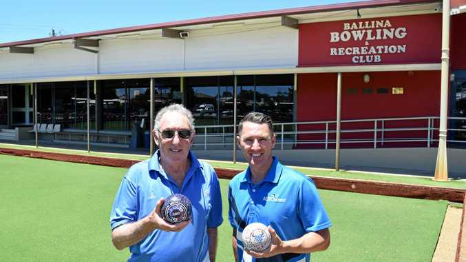Walter Jacobs and Barry Lester at the Summerland Pairs in Ballina.