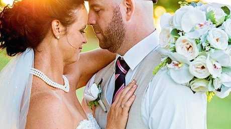 LOVEBIRDS: Lauren and Wayne Taylor got married on April 29 after meeting through dating website RSVP in 2012.