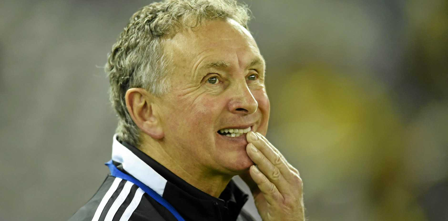 Ernie Merrick during his time as coach of the Wellington Phoenix.