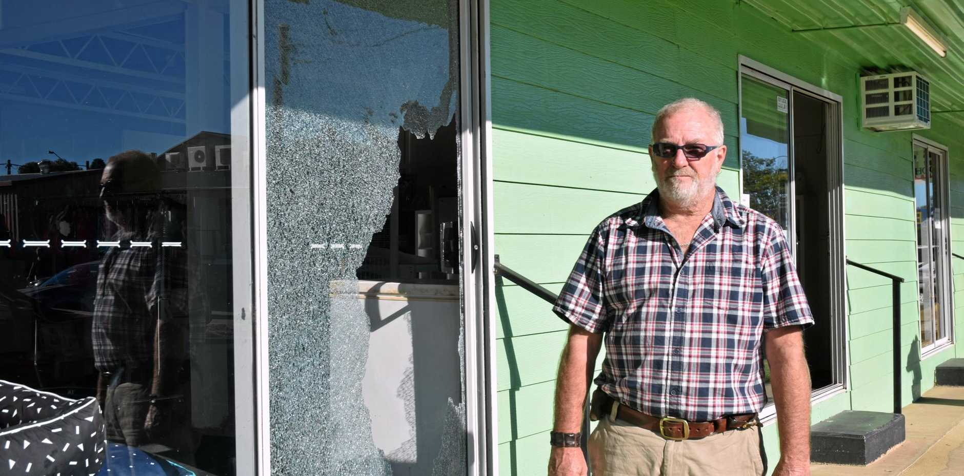 Bob Budgen's business Bob's Pet Supplies in chinchilla was broken into on Sunday night.