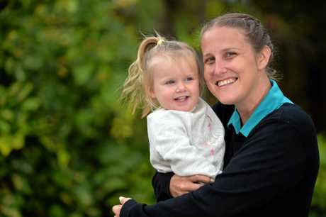 BUDGET: Tegan Dalli with her daughter Swayze Burgess, 2.