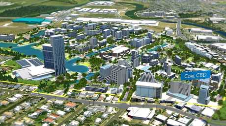 Artist impression of the proposed core of Maroochydore CBD.
