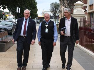 Mayor Paul Antonio, Kevin Flanagan and CEO Brian Pidgeon.