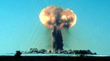 "The ""One Tree"" explosion at Maralinga in 1956 was the first of seven at the site in the South Australian desert."