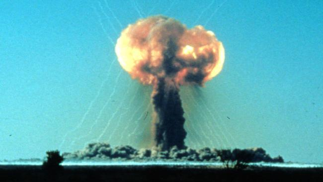 """The """"One Tree"""" explosion at Maralinga in 1956 was the first of seven at the site in the South Australian desert."""