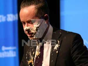 Qantas Chief cops pie in face