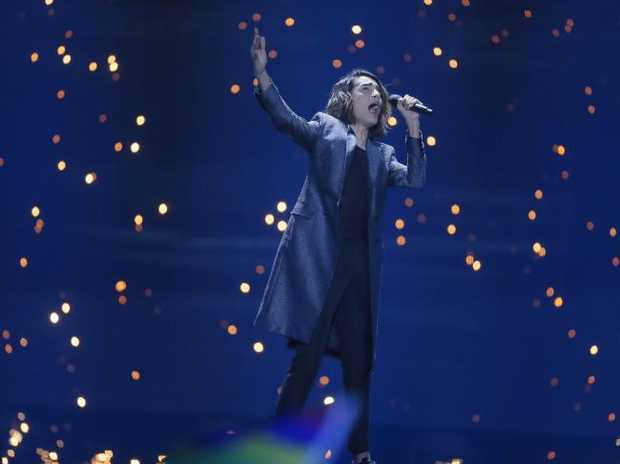 Ukraine says detains prankster who mooned during Eurovision
