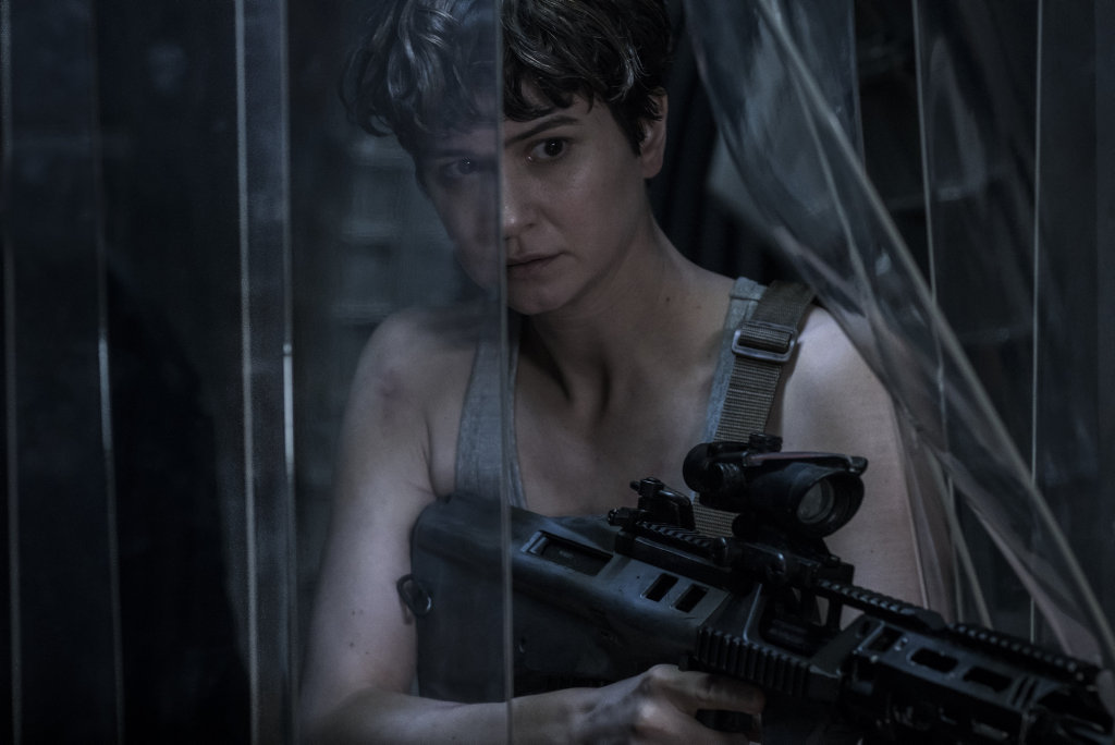 Katherine Waterston in a scene from the movie Alien: Covenant.