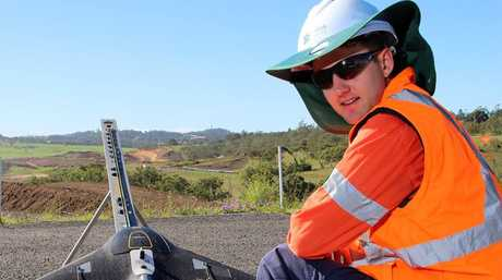 Bradley, the survey manager who helped Nexus Infrastructure capture amazing 3D models of the Second Range Crossing construction.