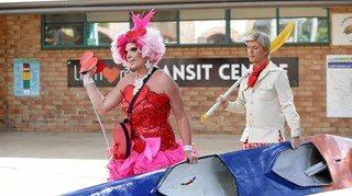 Maude Boat and Bob Downe take part in Lismore Chamber of Commerce Campaign to Restart The HEART.