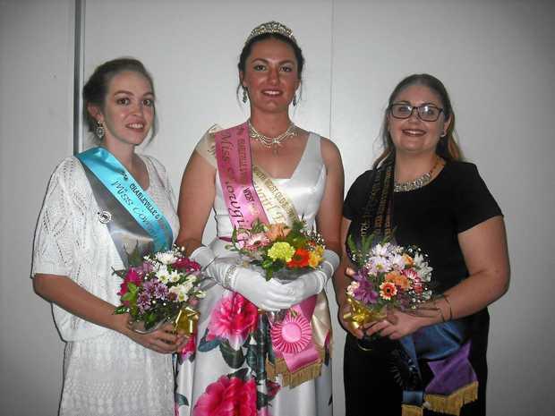 Miss Community Spirit Teisha Boland, Miss Showgirl Isobella Agar and runner-up Tory Lyons.