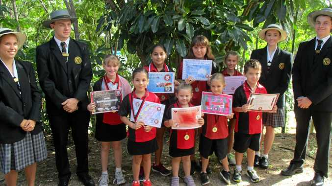 AUSSIE AWARDS: (Back from left) Keely Powell, Declan Nicolls, Alexis Brady, Laila Qdemat, Grace Visberg-Munro, Indianna Wintle-Legge, Bella Menzies and Quinn Edwards. Front: Cartia Kelly, Aleaha Baker, Jasmine Whittaker and Jack Scanlan.