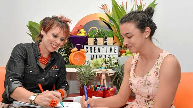 GETTING CRAFTY: Director of Redhotblue Jody Euler and Olivia Laval get creative.
