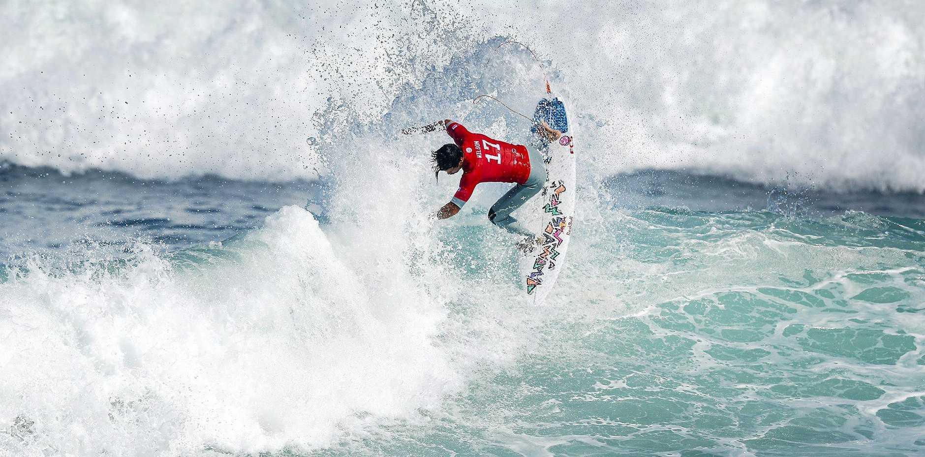 HEAT WINNER: Julian Wilson in round one of the Oi Rio Pro at Saquarema at Rio de Janeiro, Brazil.