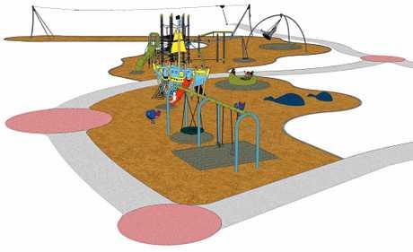 An artist's impression of the Lawrie Hanson Park at Rainbow Beach.