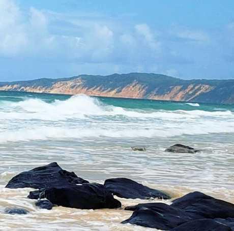 The Rocks at Rainbow Beach.