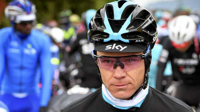 British rider Chris Froome claims he was knocked off his bike.