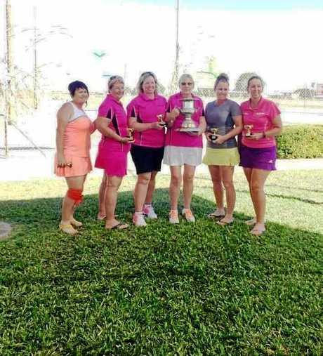 Mackay Division 2 winners Sharon Lawence, Deb Bulfin, Mel Bugeja, Wendy Pitt (captain), Nicole Petersen and Ann Jones.