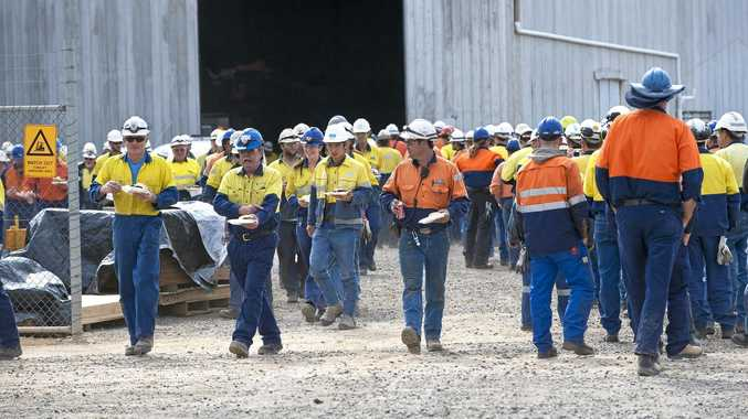 ACTION: Unions at the Kogan Creek Power Station have launched industrial action against CS Energy, claiming legal loopholes are not protecting worker's rights. Photo taken at a company barbecue in 2011.