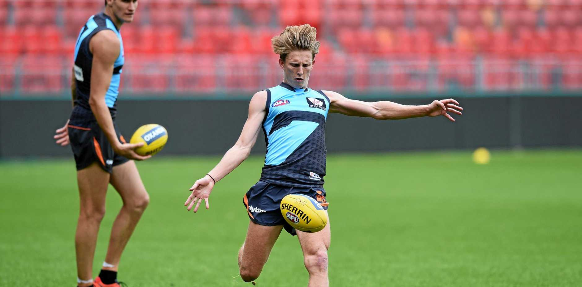 GWS Giants young gun Lachie Whitfield is expected to be included in the side to take on Collingwood this weekend.
