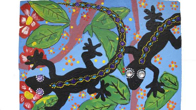 This entry from Mater Dei was named the winner in the inaugural Toowoomba Primary Schools Mural Competition.