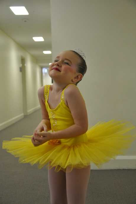 Ballet dancer Indyanna Waters was excited to go on stage