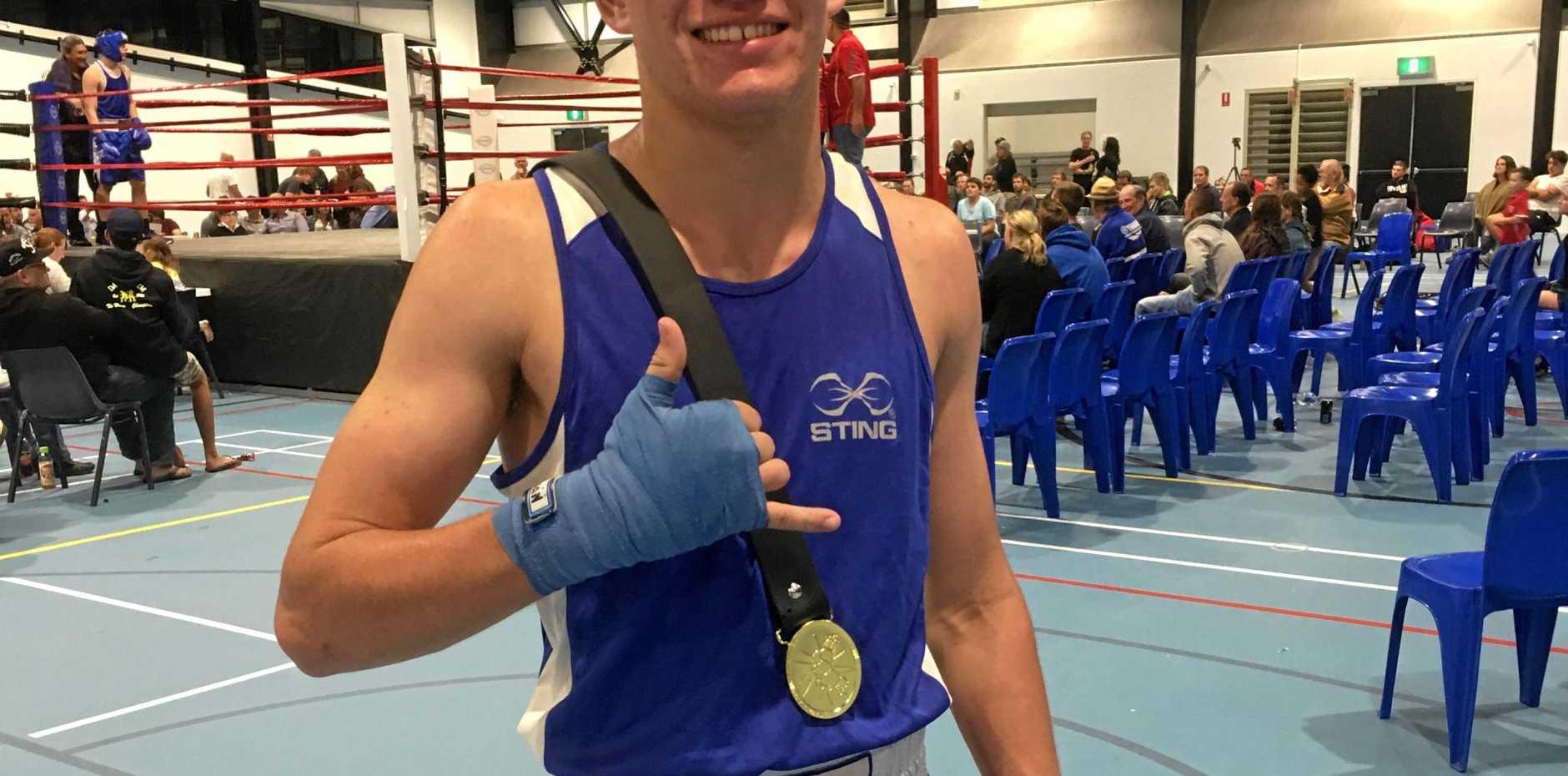WINNER: Bundaberg's Dean Read was a winner for the Attila PCYC Boxing Academy on Fight Night last Saturday night.