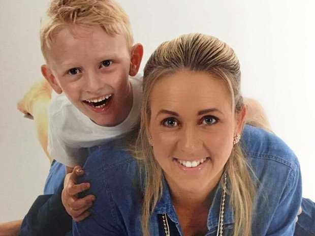 Corissa Ivory with her five-year-old son Logan.