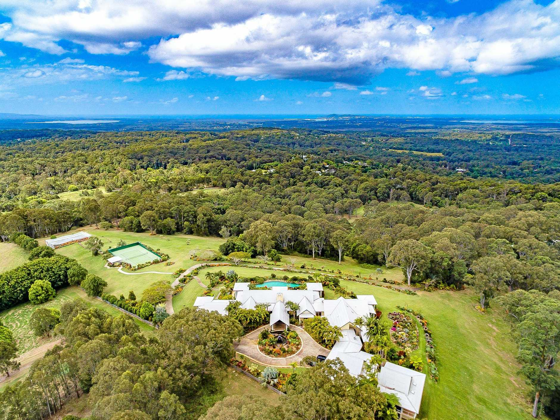 PRICE SLASHED: Legendary songwriter Mike Chapman's estate, Cintamani, in the Noosa hinterland, has been slashed in price.