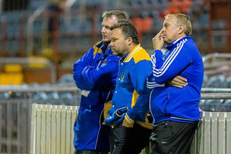 USQ coach Gavin Freier (middle) won't allow his side to pull any punches this weekend.