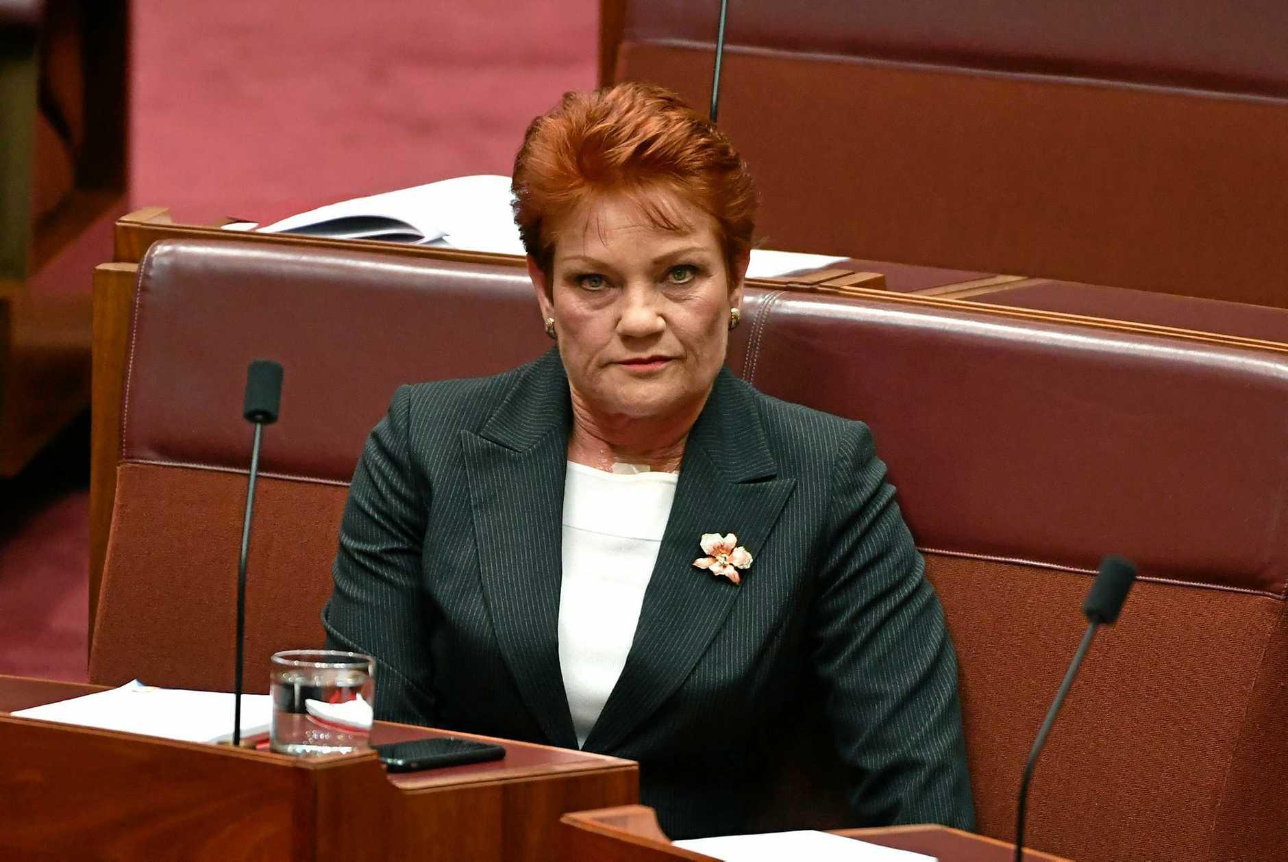 CALLIOPE'S FUTURE? One Nation federal leader Senator Pauline Hanson.