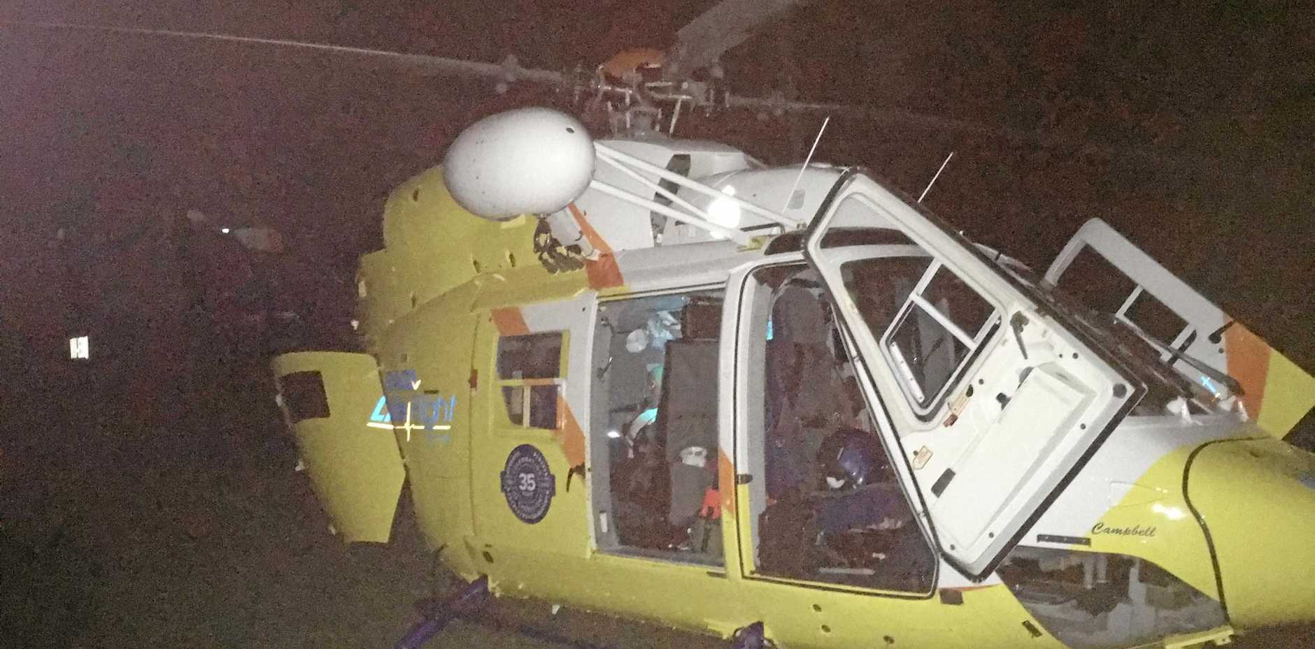 Two were flown from Fraser Island overnight by an RACQ Lifeflight helicopter.