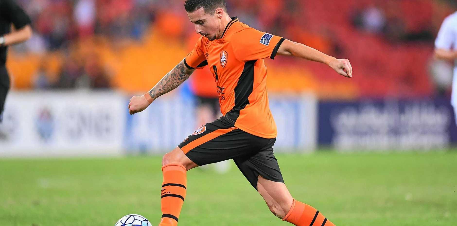 OFF TO GERMANY: Jamie Maclaren is leaving the Brisbane Roar.