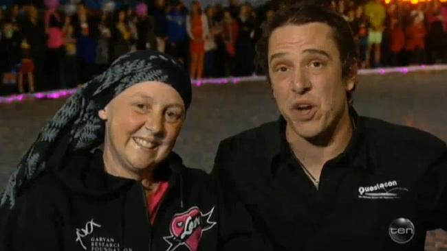 Connie and Samuel Johnson appear on The Project. Source: Channel Ten