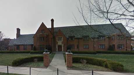 The now disbanded Beta Theta Pi frat house where Tim Piazza fell during a hazing ritual and later died. Picture: Google.