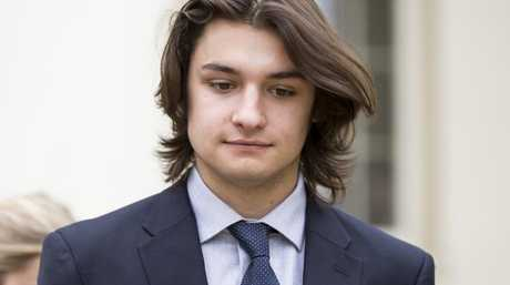 Joseph Sala, a doctor's son from Pennsylvania, faces multiple charges in relation to the hazing ritual death of Timothy Piazza at a frat house party. Picture: Joe Hermitt/PennLive/Advance/Barcroft