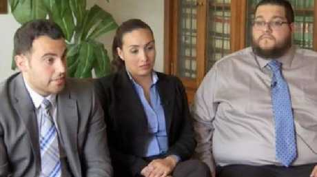 Afraid for their lives: Customs and Border Patrol officers Vito Degironimo, Diana Cifuentes and Dan Arencibia talk about 'the rape table' in an NBC interview.