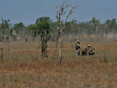 Australian soldiers during a live-fire training exercise at Mount Bundey. File