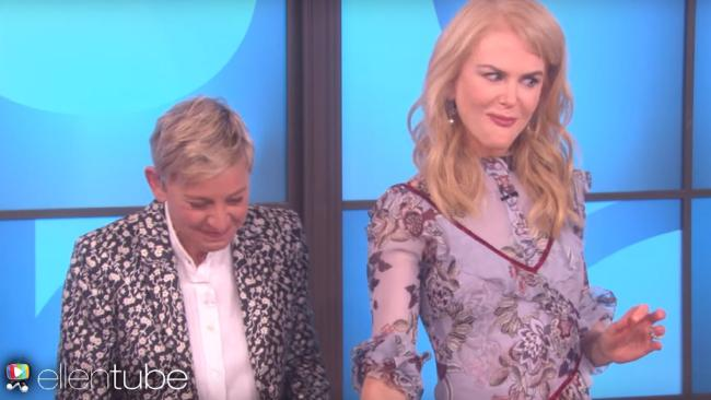 Nicole Kidman did not enjoy a cooking segment on Ellen's talk show.