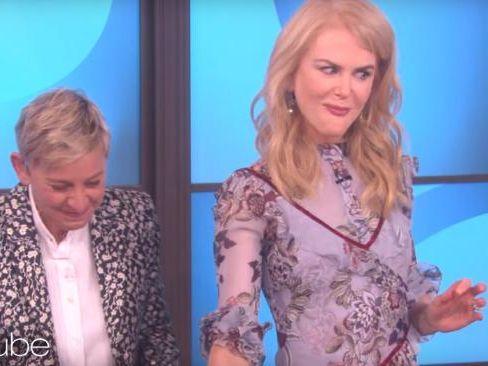 Nicole Kidman did not enjoy a cooking segment on Ellen's talk show.