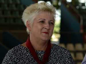 Michelle Landry on levee bank