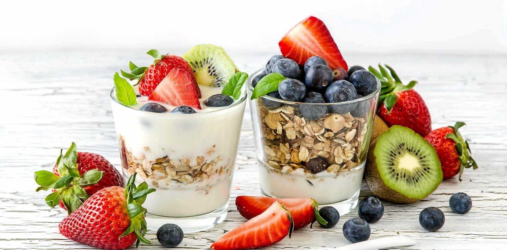 Dress up a healthy breakfast of fruit, muesli and yogurt for mum tomorrow morning.