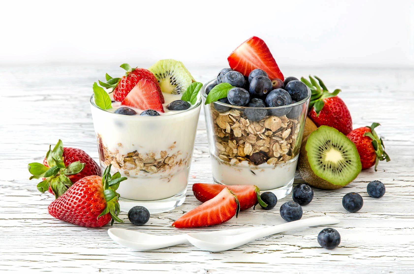 Dress up a healthy breakfast of fruit, muesli and yogurt for mum tomorrow morning.