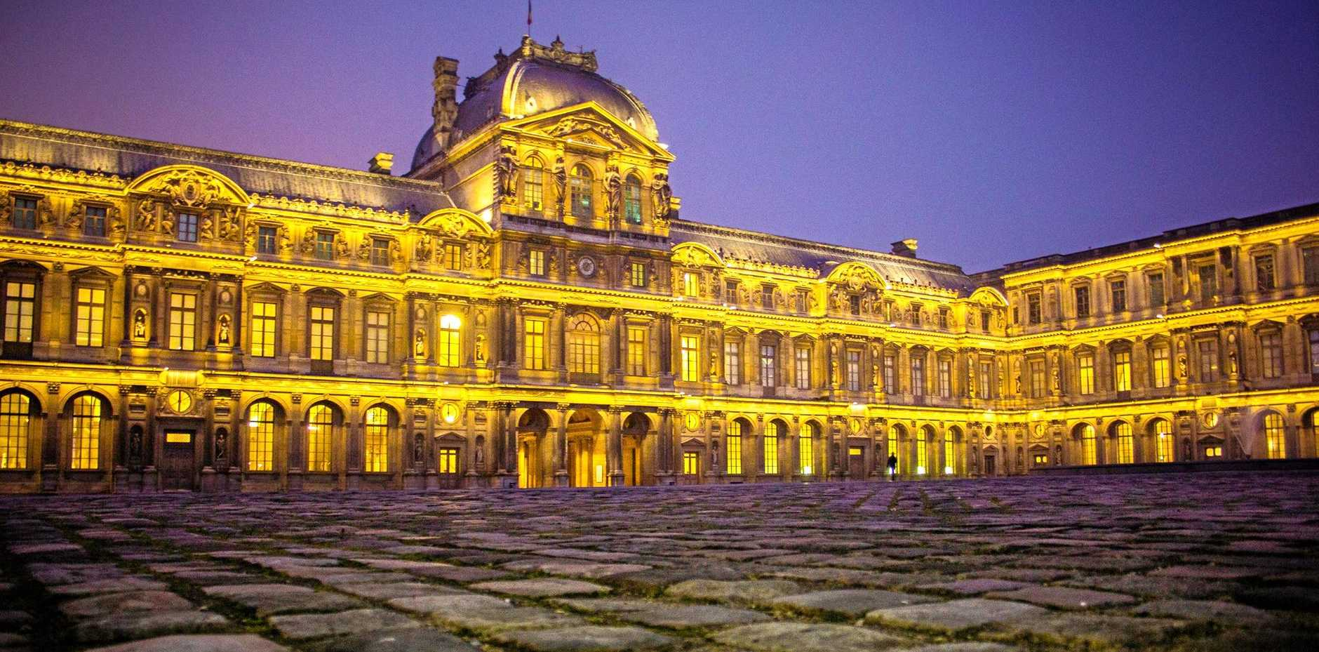 The Louvre Museum in Paris - one of the world's greatest - and, right, the Uffizi in Florence.