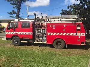 Vintage red fire truck listed on buy, swap, sell