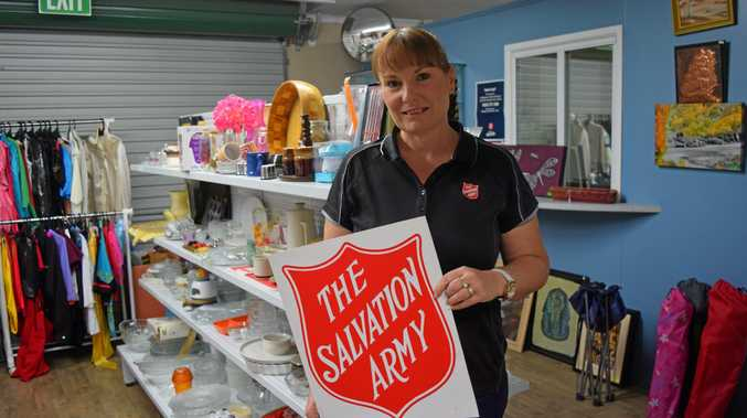 RED SHIELD: Captain Jo Bulow, from the Salvation Army Dalby, encourages people to give generously to the Red Shield doorknock.
