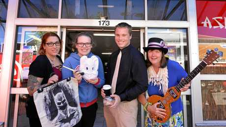 Jasmine Van Twest, Bryana Van Twest, Jack Maher and Maxene Grewar are part of the new businesses which have moved into the James Nash Arcade.