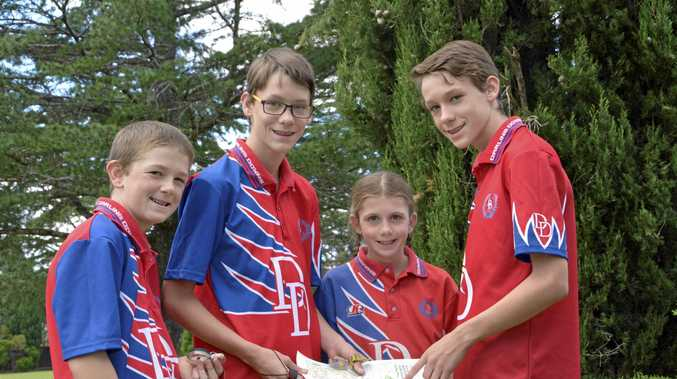 Toowoomba orienteering siblings (from left) Jack, Blake, Cassy and Grant Reinbott.